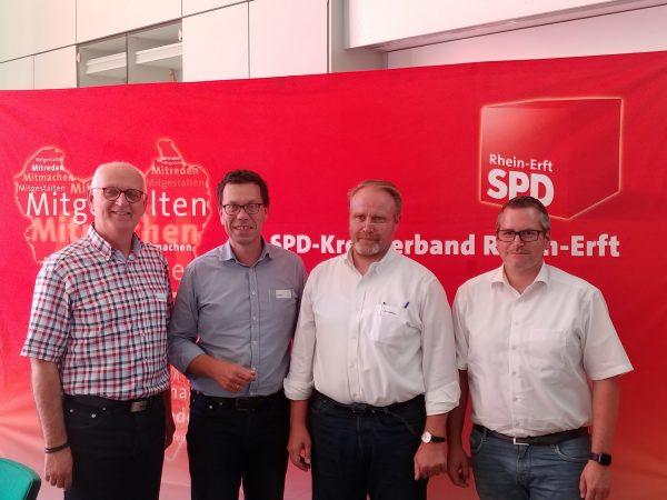 Carsten Löcker MdL, Dierk Timm, Joachim Schwister, Sascha Solbach