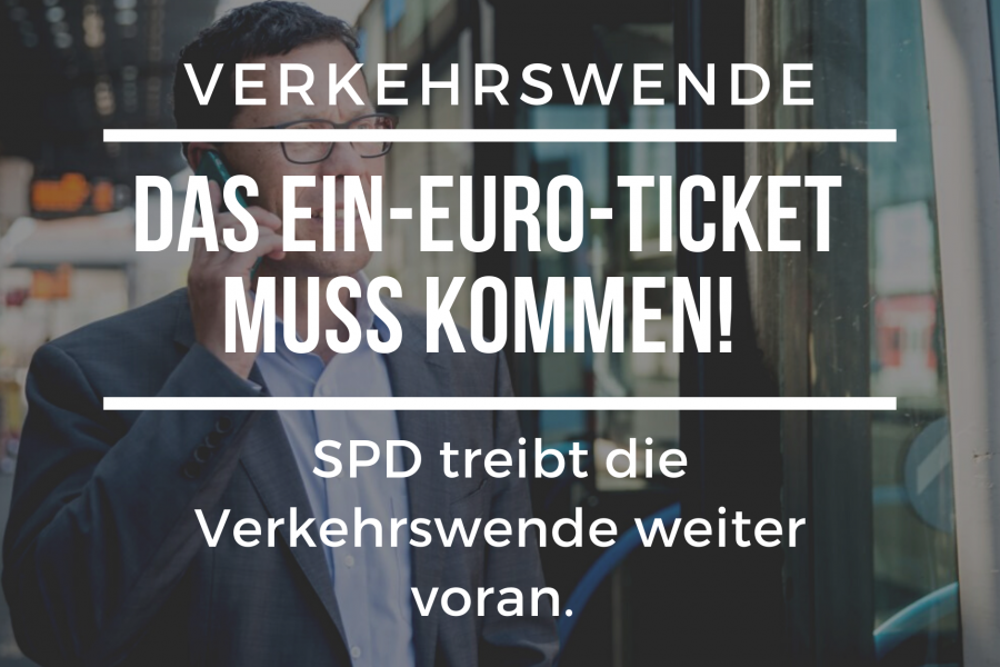 Die SPD fordert dasEin-Euro-Ticket für die Region