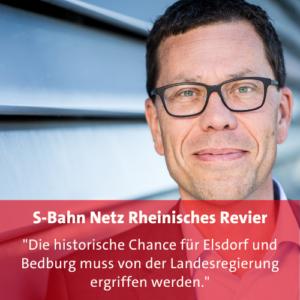 Bild Dierk Timm mit Aussage, die historische Chance auf ein S-Bahn Netz für das Rheinische Revier nicht zu verspielen.